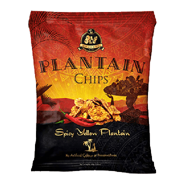 Olu Olu Yellow Plantain Chips With Chilli 60g (2.11oz) (Box of 24)