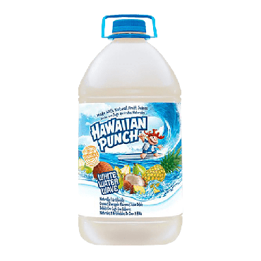 Hawaiian Punch White Water Wave Drink 3.78ltr (1 Gallon) (Box of 4)