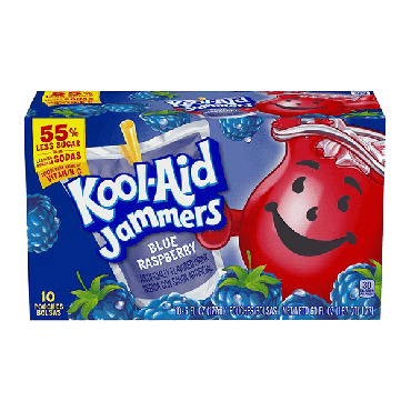 Kool Aid Jammers Blue Raspberry (10 Pouches) 177ml (6 fl. oz) (Box of 4)