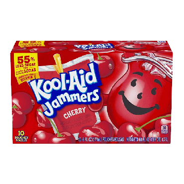 Kool Aid Jammers Cherry (10 Pouches) 177ml (6 fl oz ) (Box of 4)