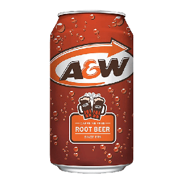 A&W Root Beer 355ml (12 fl.oz) (Box of 24) (2 x 12 Case)