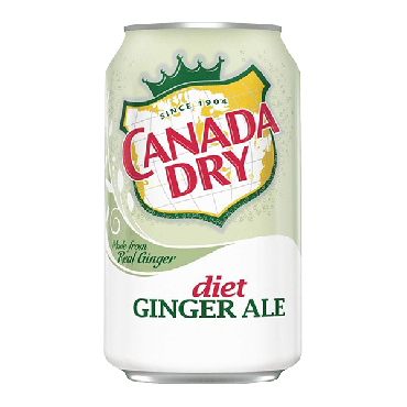 Canada Dry Diet Ginger Ale 355ml (12 fl.oz) (Box of 12)