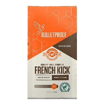 Bulletproof French Kick Whole Coffee (12 oz) 340g (Box of 6)
