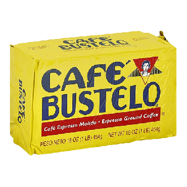 Cafe Bustelo Espresso Ground Coffee 454g (16oz) (Box of 12)