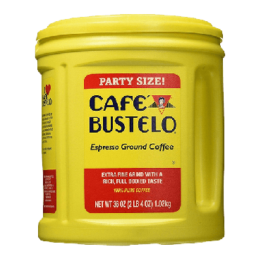 Cafe Bustelo Espresso Ground Coffee Tub 1.02kg (36oz) (Box of 6)