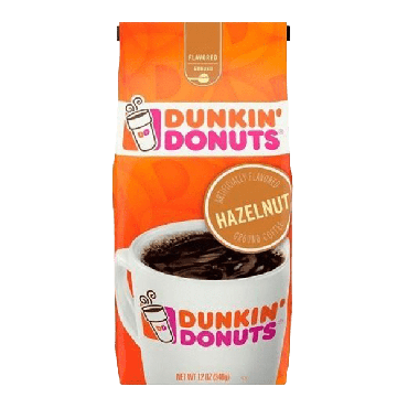 Dunkin Donuts Hazelnut Ground Coffee 340g (12oz) (Box of 6)