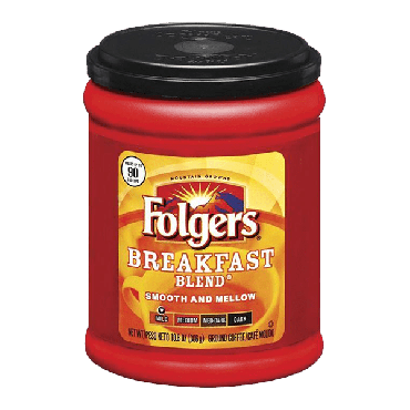 Folgers Breakfast Blend Mild Ground Coffee 306g (10.8oz) (Box of 6)