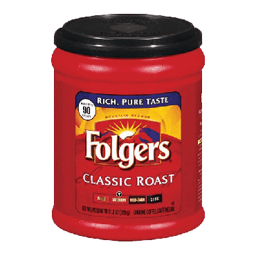 Folgers Classic Roast Medium Ground Coffee 320g (11.3oz) (Box of 6)