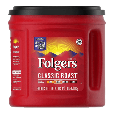 Folgers Classic Roast Ground Medium Coffee 865g (30.5oz) (Box of 6)