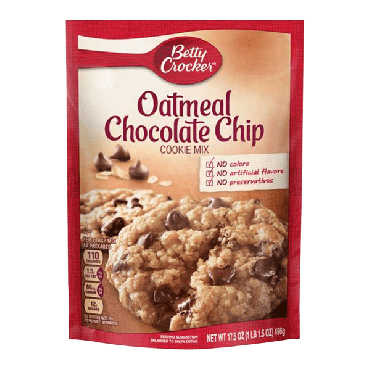 Betty Crocker Cookie Mix Oatmeal Chocoalte Chip 496g (17.5oz) (Box of 12)