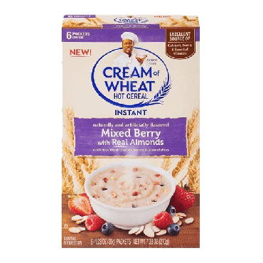 Cream of Wheat Instant Mixed Berry with Almond 198g (7oz) (Box of 12)