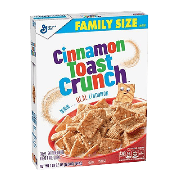 Cinnamon Toast Crunch Family Size Cereal 547g (19.3oz) (Box of 8)