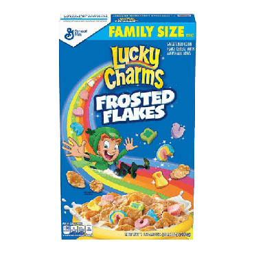 Lucky Charms Frosted Flakes Cereal 592g (20.9oz) (Box of 7)
