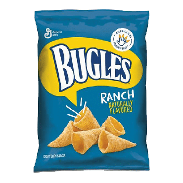 Bugles Ranch Corn Snacks 212g (7.5oz) (Box of 8)
