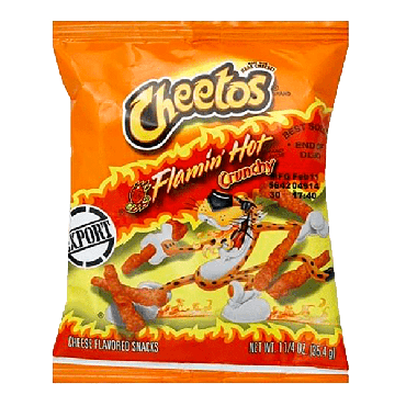 Cheetos Flamin Hot Crunchy (1.25 oz) 35.4g (Box of 44)