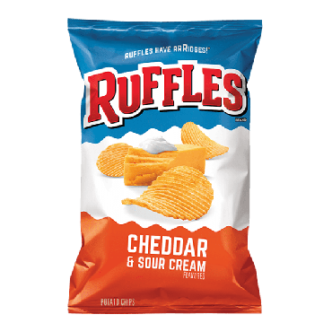 Frito Lays Ruffles Cheddar & Sour Cream (1.5oz) 42.52g (Box of 64)