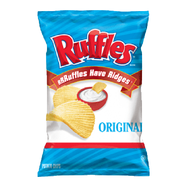 Frito Lays Ruffles Chips (1.5oz) 42.52g (Box of 64)