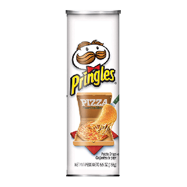 Pringles Pizza Flavour Potato Chips 158g (5.5oz) (Pack of 6)
