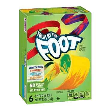 Fruit by the Foot Variety Snack Pack 128g (4.5oz) (Box of 8)