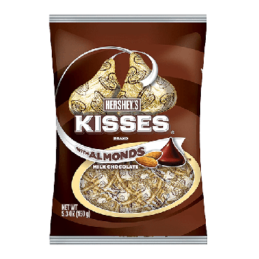 Hershey's Kisses Milk Chocolate with Almonds 150g (5.3oz) (Box of 12)