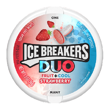 Ice Breakers Duo Mints Strawberry 36.8 (1oz) (Box of 8)