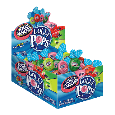 Jolly Rancher Assorted Lollipops 850g (50 Pieces) (30oz) (Box of 12)