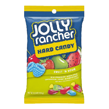 Jolly Rancher Hard Candy Fruit 'N Sour 184g (6.5oz) (Box of 12)