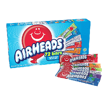 Air Heads Singles Assorted (72 Count)