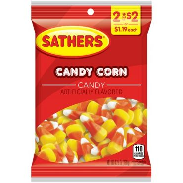 Brach's Sathers Candy Corn 120.5g (4.25oz) (PM 2 for $2) (Box of 12)