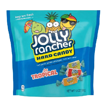 Jolly Rancher Tropical Hard Candy 1.90kg (6.5oz) (Box of 12)