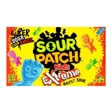 Sour Patch Kids Extreme Theater Box 99g (3.5oz) (Box of 12)