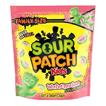 Sour Patch Kids Watermelon Soft & Chewy Candy 816g (1.8Lbs) (Box of 4)