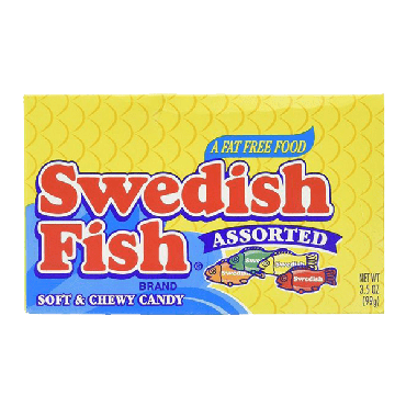 Swedish Fish Assorted Soft & Chewy Candy Theater Box 99g (3.5oz) (Box of 12)