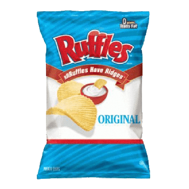 Frito Lays Ruffles Regular Potato Chips (6.5oz) 184g (Box Of 15)