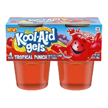 Kool Aid Gels Tropical Punch 396g (14oz) (4 Count) (Pack of 6)