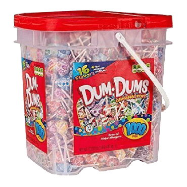 Spangler Dum Dums Original Mix Lollipops (1000 pieces) (4 Gal)