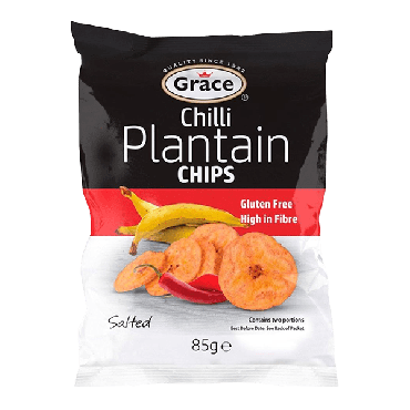 Grace Chilli Plantain Chips 85g (Box of 9)