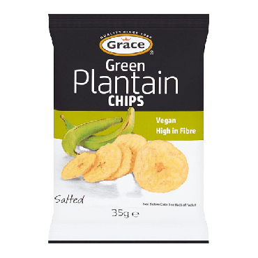 Grace Green Plantain Chips 35g (Box of 30)