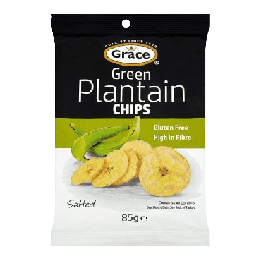 Grace Green Plantain Chips 85g (Box of 9)