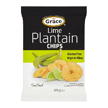 Grace Lime Plantain Chips 85g (Box of 9)
