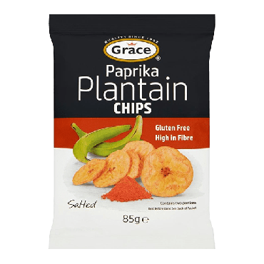 Grace Paprika Plantain Chips 85g (Box of 9)