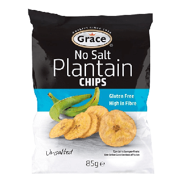 Grace Plantain Chips No Salt 85g (Box of 9)