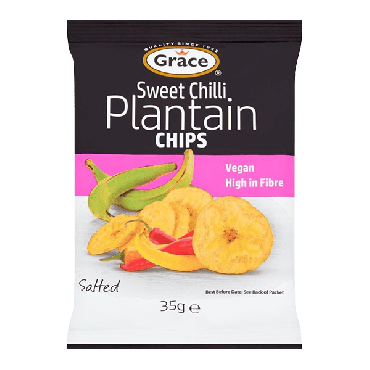 Grace Sweet Chilli Plantain Chips 35g (Box of 30)