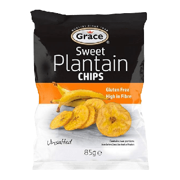 Grace Sweet Plantain Chips 85g (Box of 9)