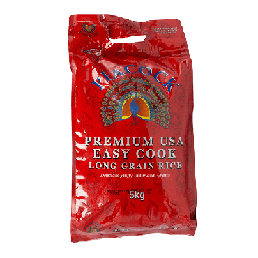 Peacock Easy Cook Rice 5kg