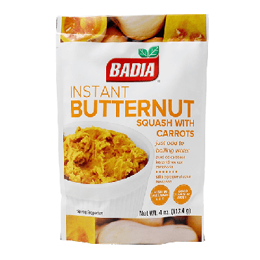 Badia Instant Butternut Squash with Carrots 113.4g (4oz) (Box of 6)