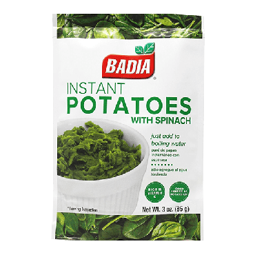 Badia Instant Potatoes with Spinach 113.4g (4oz) (Box of 6)