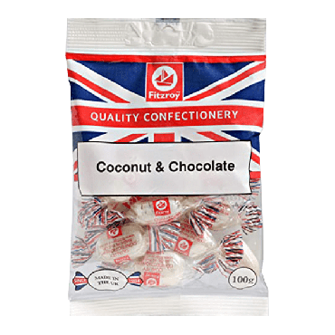 Fitzroy Union Coconut & Chocolate Sweets 100g (Box of 12)