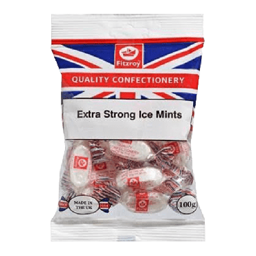Fitzroy Union Jack Extra Strong Ice Mints 100g (Box of 12)