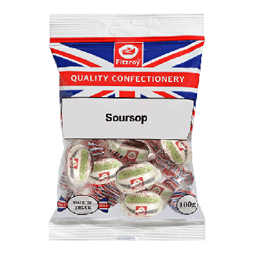Fitzroy Union Jack Soursop Sweets 100g (Box of 12)